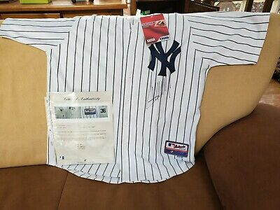 Donald Trump Signed #36 Ny Yankee Jersey Gai Authentication
