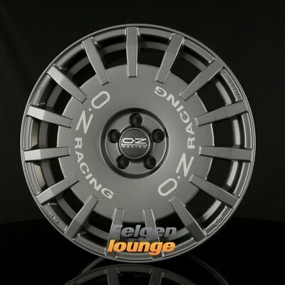 4 Alloy Wheels Oz Rally Racing Dark Graphite + Silver Lettering 8x17 Et25 4x108