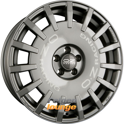 4 Alloy Wheels Oz Rally Racing Dark Graphite + Silver Lettering 7x17 Et25 4x108