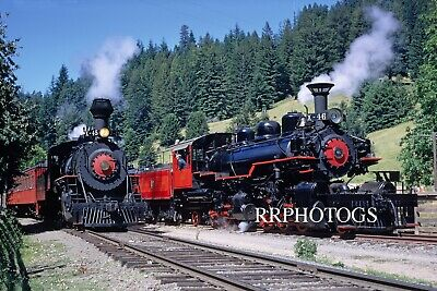 Railroad Large Print California Western Steam Lineup W #45 And #46