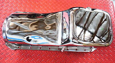 Oil Pan Chrome Big Block Chevy 396 402 427 454 Bbc Chevrolet Stock Orig Capacity