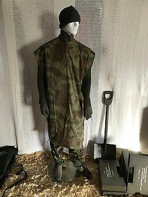 New Vintage Army Poncho Cape Rain Poncho Water Proof Surplus Military Clothing .