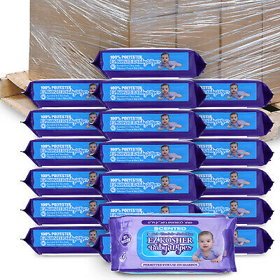 Ez Kosher Baby Wipes Scented Ultra Soft Permitted For Use On Shabbos (60 Cases)