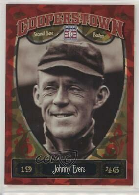 2013 Panini Cooperstown Collection Red Crystal Shard/399 #9 Johnny Evers Card