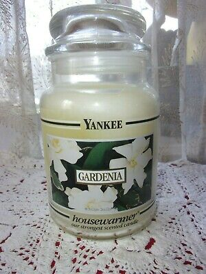 Yankee Candle Black Band Htf Gardenia Housewarmer Large 22 Oz Candle New