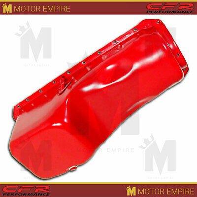 Fits 1965-90 Chevy Bb Big Block 396-402-427-454 Stock Capacity Oil Pan Orange