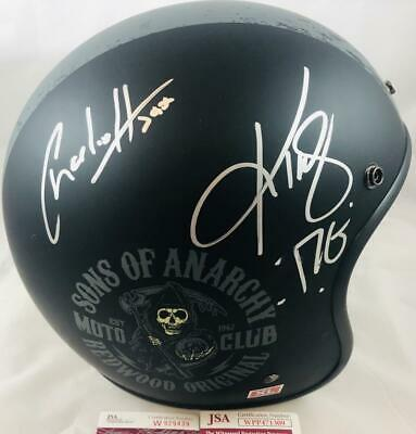 Charlie Hunnam & Kim Coates Signed Sons Of Anarchy Motorcycle Helmet Jsa Coa 309