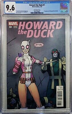 Howard The Duck 1 1:25 Ron Lim Variant Cover Cgc 9.6 1st Gwenpool First Print