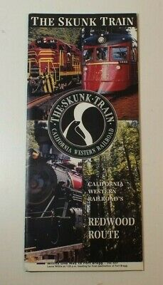 The Skunk Train California Western Railroad Redwood Route 1996 Travel Brochure