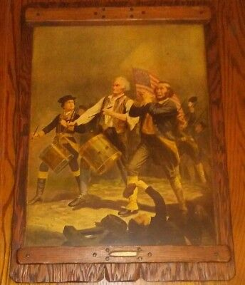 The Spirit Of 76 Yankee Doodle Painting 22 X 15.5 Inches Hardwood