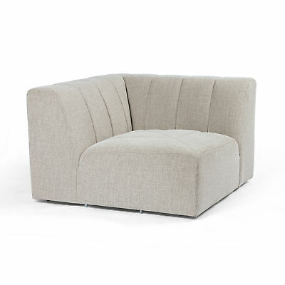 """43"""" W Lionello Corner Sectional Vertical Channeling 100% Polyester Modern"""