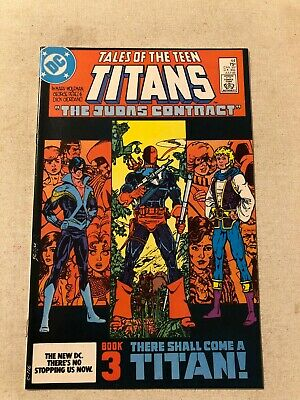 Tales Of The Teen Titans #44 Nm 9.4 1st App Of Nightwing Judas Contract Part Ii