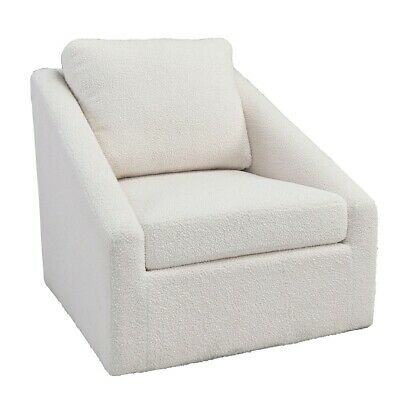 """33.3"""" W Swivel Occasional Chair Iron Fully Upholstered Fleece Polyester Modern"""