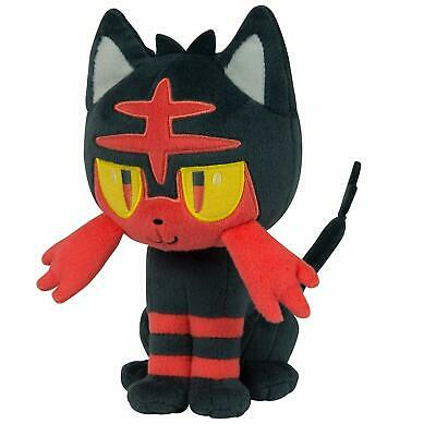 Pokemon Litten Plush Doll Sun & Moon Banpresto Stuffed Animal 10 Inches Big