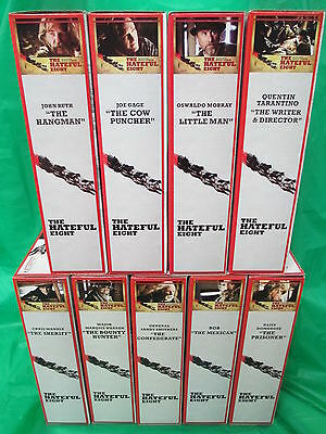 Hateful Eight Neca Reel Toys 2015 Set Of 9 Limited To 3000 ~ Tarantino