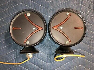 Nos Pair Vintage Yankee Jr Arrow Turn Signals Lights Truck New Double Sided Nice