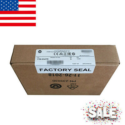 Perfect Allen-bradley 2-port Clx Hi-cap Enet/ip Module Tp 1756-en2tr Usa