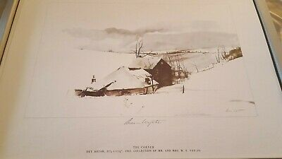 """Andrew Wyeth Hand Signed In Pencil, """"the Corner"""""""