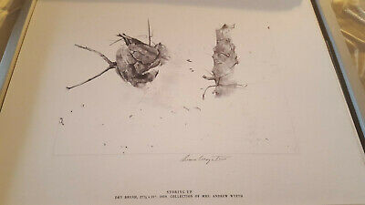 """Andrew Wyeth Hand Signed In Pencil:""""storing Up"""""""