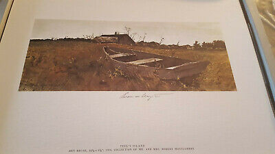 """Andrew Wyeth Hand Signed In Pencil: """"teel"""