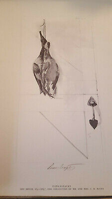 """Andrew Wyeth Hand Signed In Pencil: """"canvasbacks"""""""