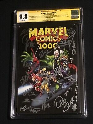 Cgc Ss 9.8~marvel Comics 1000~campbell Variant~signed By J Scott+20 Others