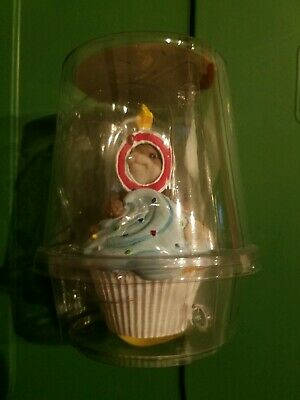 Enesco Charming Tails Happy Birthday Cupcake Year 0 Mouse Figure New