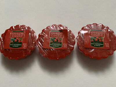 Yankee Candle Spicy Pepperberry & Spruce 3 Tarts Wax Melts Htf Retired Holiday