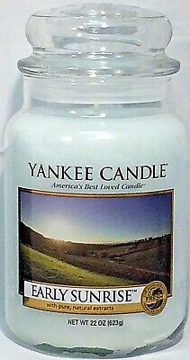 Retired Yankee Candle Early Sunrise 22oz Large Jar Candle Rare Oop Vhtf New