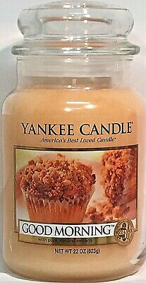 Rare Yankee Candle Good Morning 22oz Large Jar Candle Retired Htf Collectors New