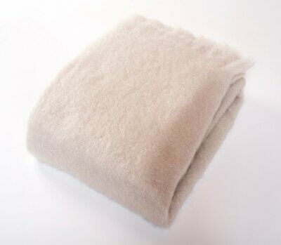 Mohair Wool Blend Throw Blanket Cloud Ivory Harlow Henry Us Chemical Free Eco