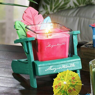 Set Yankee Candle Margaritaville Palm Holder W/jamaican Vacation 2 Wick Candle