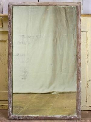 "Antique Rustic French Mirror With Simple Timber Frame 2/2. 26¾"" X 43¼"""