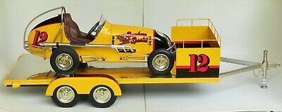 Retro 1-2-3 Llc Speedway Special Midge Racer Car With Trailer Limited Edition Nb