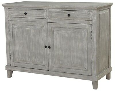 "49"" L Lillian Sideboard Hand Crafted Solid Mango Wood Rustic Grey Wash Finish"