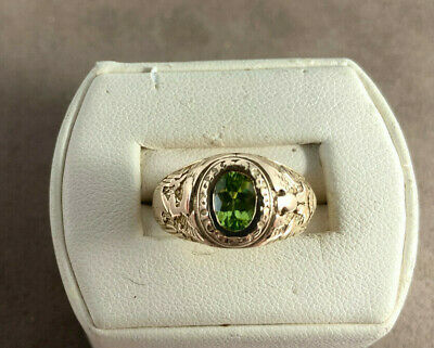 Vintage 14k Tiffany And Company 1941west Point Academy Peridot Ring