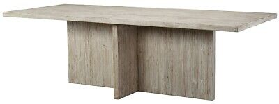 """94"""" L Lucilla Dining Table Solid Wood Light White Wash Modern Contemporary"""