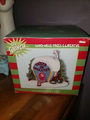 * Who-ville Trees & Wreaths  * Brand New!!  Dept 56 Dr. Seuss  Grinch  Retired