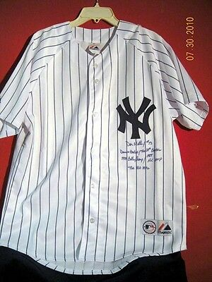 Ny Yankee Don Mattingly Autographed N.y. Yankee Home Jersey With 7 Inscriptions