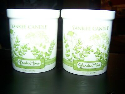 New Lot Of 2 Yankee Candle Garden Time, 7 Oz. Limited Edition ~ Retired Candles