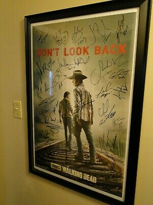 Walking Dead 30 Signed Poster Andrew Lincoln Reedus Nicotero 30 Autos!