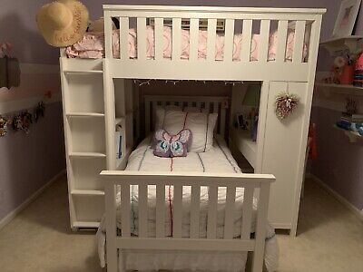 Pottery Barn Kids Bunk Bed (used But In New Condition) White Wood Beautiful