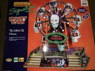 ✅ Lemax Spooky Town Ferris Wheel Of Horror Halloween Animated Sound Fits Dept 56