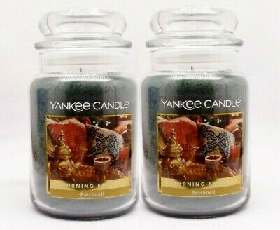 2 Yankee Candle Patchouli Scented Wax Home Fragrance 1-wick Candle Jar