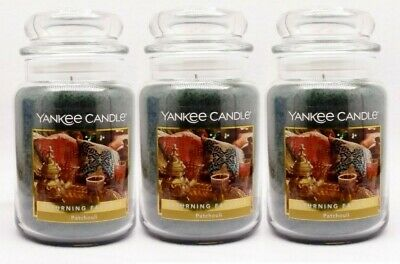 3 Yankee Candle Patchouli Scented Wax Home Fragrance 1-wick Candle Jar