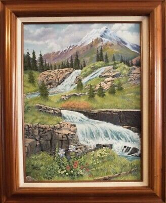 Jim Lang Yankee Basin Colorado Original Landscape Oil Painting On Canvas 24x16