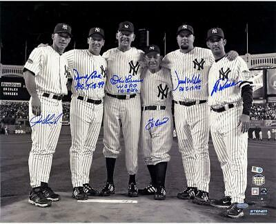 Final Game At Yankee Stadium Perfect Game Signed 16x20 Photo 6 Sigs - Fanatics