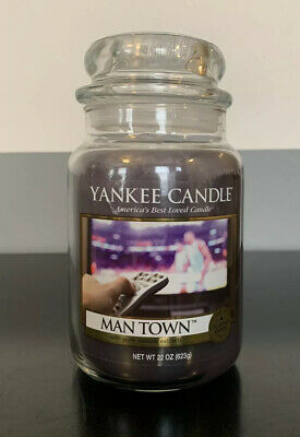 *brand New Retired & Rare Yankee Candle Collector's Edition Man Town Large Jar*