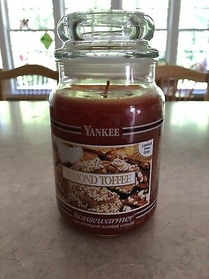 2 Yankee Candle Almond Toffee & Brown Sugar 22oz Jar  Candle  - Retired & Rare