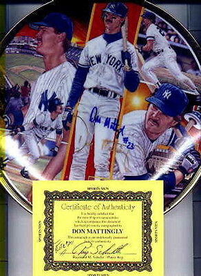 """Don  Mattingly  Autographed  Limited  Edition Yankee Gold Plate """" Yankee Pride """""""